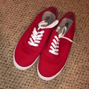 Red flats, great condition